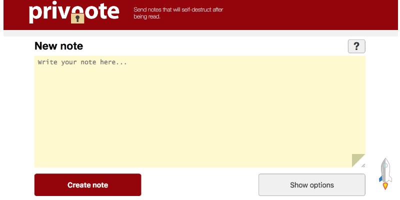 privnote線上臨時文件分享工具,可撰寫文字、添加密碼保護,並定時自動刪除內容。