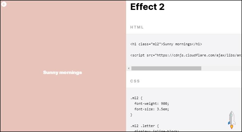 CSS文字動畫2